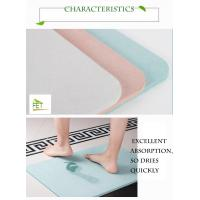 Buy cheap diatomaceous earth bath mat  highly absorbent anti-slip diatomite mat eco-friendly durable from wholesalers