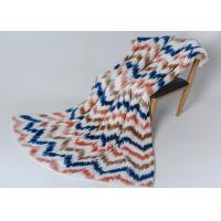 Super Soft Warm Plush Polyester Fleece Blanket Sofa Bed Couch Modern Printed Stripe Manufactures