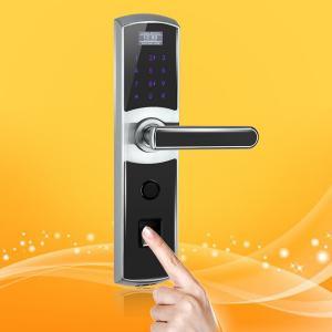 China 3 In One Fingerprint Access Control Door Lock , Remote Control Front Door Lock on sale