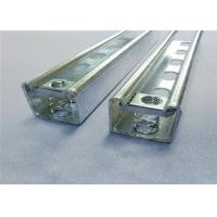 Quality Galvanized Gi Steel C Shaped Channel , Solar Energy System Panel Rack C Channel Steel for sale