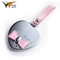 heart shaped pocket metal compact mirror custom Manufactures
