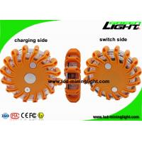 Rechargeable Amber Led Road Flares Emergency Disc , Super Bright Durable Flashing Warning Beacon Manufactures