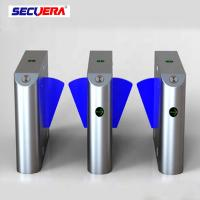 China Entrance electronic fingerprint used counter flap barrier turnstiles for sale on sale