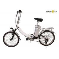 Silver Folding Electric Bicycle Lightweight Adjustable Two Wheel Electric Bike Manufactures