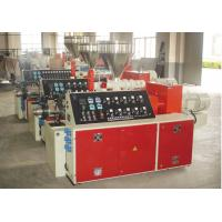China Conical Twin Screw Plastic Pipe Extrusion Machine Plastic Extrusion Machinery on sale