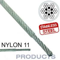 China Clear Coated Steel Wire Rope 11 Stainless Steel Metal Large Safety Factor on sale