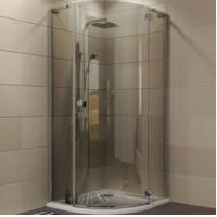 China Indoor Aluminium Shower Cubicles Sliding Door Sanding / Clear Surface on sale