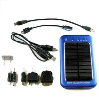 Quality Intelligent 1000mAh Mobile Phone Solar Charger As Electronic Gift With 2PCS Solar Panels for sale