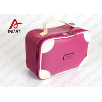 China Matte Lamination Leather Pink Customized Paper Box With Handle OEM /ODM Avaliable on sale