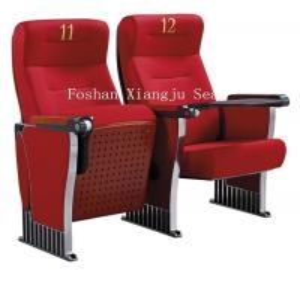 Aluminum Legs Auditorium Theater Seating Ash Wood Veneer Finished XJ-389 Manufactures