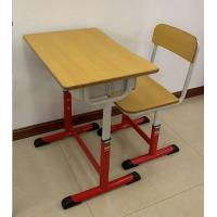 Ergonomic School Desk And Chair 650*450MM Wood Table Top Adjustable Steel Tube Manufactures