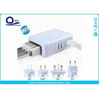 Portable Multiple Port Usb Phone Charger Outlet USA / AUS / UK Plug Cables Manufactures