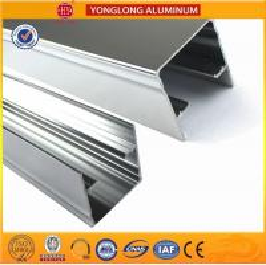 Machinery Polished Aluminium Profile Silver White High Surface Brightness Manufactures