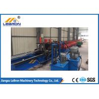 Post Punch And Track Cutting Solar Strut Channel Roll Forming Machine Long Life Time Manufactures