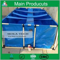 China Customized Flexible Collapsible PVC Steel Frame Fish Tank For Sale on sale