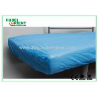 Breathable CPE  Disposable Bed Protectors Hospital Bedding Sheets Manufactures