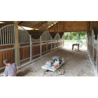 Hot Dip Galvanized Horse Stable Box Stall Fence Panel With Wood Board Manufactures