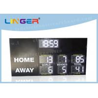 High Brightness Electronic Football Scoreboard Clock With Installation Brackets Manufactures