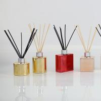 Electroplating Bottle Home Scent Diffuser / Luxury Reed Diffuser With Customized Box Manufactures