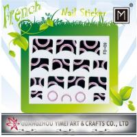 China Black Flower 3D or 2D Art New French Nail Sticker, nail tip Decals on sale