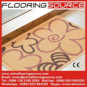 China PVC Cushion Coil Printed Mat Logo Mat PVC Cushion Door Mat Welcome Mat on sale