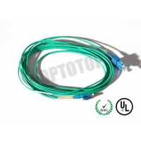 SM Lc Sc Fiber Patch Cord 2F ZIP 2MM Corning SMF-28 ULTRA , Green Jacket Manufactures