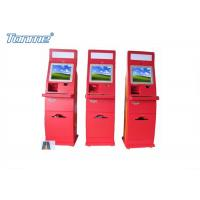 Waterproof Red Self Service Bill Payment Kiosk Credit Card Cash Acceptable 17Inch 19Inch Manufactures