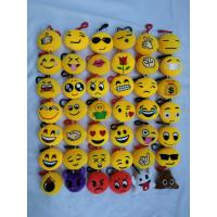 Cute Lovely Emoji Plush Toy Keychain with Hook For Promotion Gifts Manufactures
