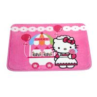 Pink Hello Kitty Polyester Water Absorbing Rugs padded play mat for Kids Manufactures