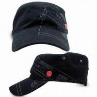 Stylish Army Cap, Made of Cotton Material, with Silver-colored Metal Buckle on Back Manufactures