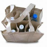Quality Promotional Nonwoven Wine Bag, Suitable for 1, 2, 4, and 6 Bottles, Customized Designs are Welcome for sale