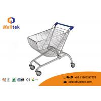China Round Basket Shape Metal Store And Supermarket Shopping Carts With Child Seat on sale