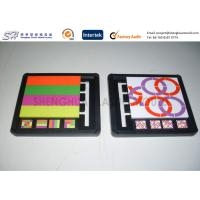 Custom Screen Printing Injection Molded Plastic Puzzle Toys for kids preschool Manufactures