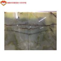 Natural Polished Light Green Onyx Stone Customized Size For Wall Decoration Manufactures