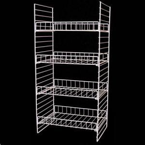 Supermarket Metal Wire Display Stands / Mulitple Shelf Wire Rack Display Stands Manufactures