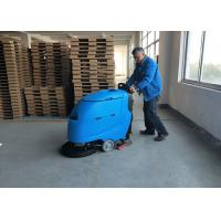 Blue Color Battery Floor Scrubber / Full Automatic Floor Cleaning Equipment Manufactures