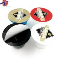 China Aluminium foil heat seal lids for coffee, Sealing cover for instant coffee on sale