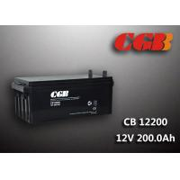 200AH CB122000 ABS Plastic V0 Solar Lead Acid Battery Non Spillable construction Manufactures
