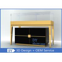 Custom Jewelry Showcase Display Pedestal Showcase Glossy Black Color Manufactures