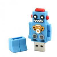 Robot Shape USB Memory Stick Storage Device, Customized USB Flash Drive 2GB Manufactures