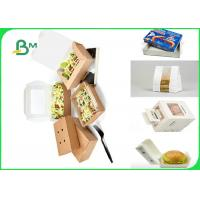 70 * 100cm Food Grade 350gsm + 15g PE Waxed Paperboard For Packing Fast Food