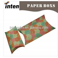 China promotional kraft paper pillow boxes with full printing on sale