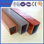 aluminium extrusion color painting aluminum tube supplier, OEM/ODM aluminium hollow tube Manufactures
