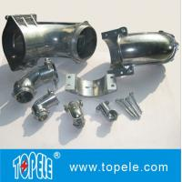 Straight / 90 Degree Flexible Conduit and Fittings Metal Zinc Squeeze Angle Connectors Manufactures