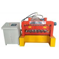 Galvanized Steel Deck Forming Machine , Floor Tiles Manufacturing Machines Chain Size 2 Inch Manufactures