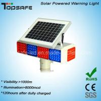 New Design Solar Powered LED Traffic Warning Flashing Light with CE (TP-BS-4M4N) Manufactures