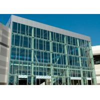 Wind Pressure Aluminium Alloy Curtain Wall With Low-E Glaess For Large Building Manufactures