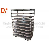 China Connected Pipe Portable Tool Cart , Tool Push Cart With Steel Plate Extrusion on sale