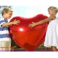 Quality 75cm Large aluminum Inflatable Foil balloons lovers heart balloon gift Helium Balloon for sale