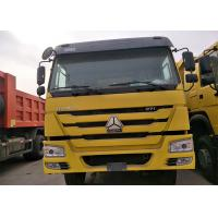 Quality 40 Ton Sinotruk Howo 6x4 Dump Truck , Yellow Color Heavy Duty Tipper Trucks for sale